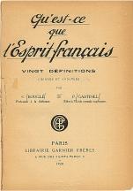 Qu'est-ce que l'esprit français ?