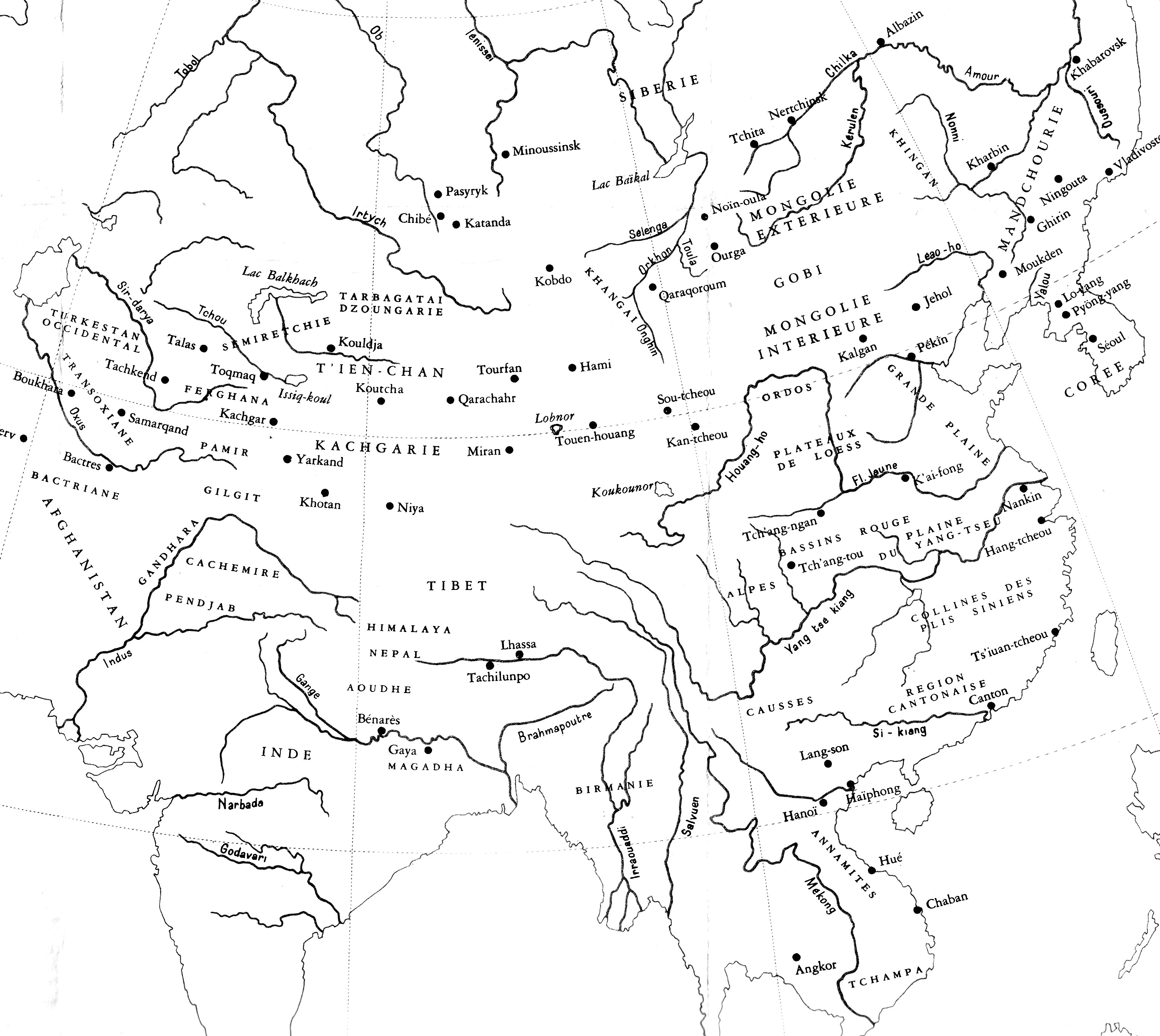 Continent+asiatique+carte